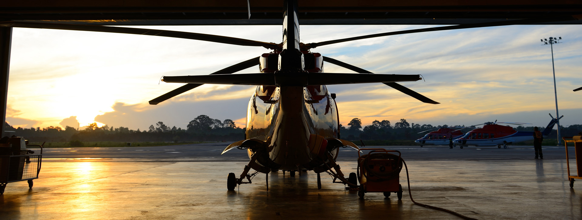 Picture of Helicopter in Hangar